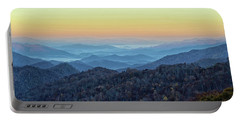 Smoky Mountains Portable Battery Charger by Nancy Landry