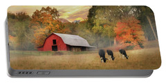 Smoky Mountains Sunrise Portable Battery Charger by Lori Deiter