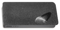 Portable Battery Charger featuring the photograph Smooth As A Feather by Lora Lee Chapman