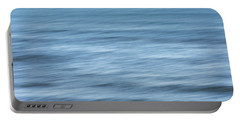 Smooth Blue Abstract Portable Battery Charger by Terry DeLuco