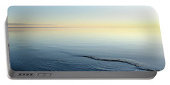 Portable Battery Charger featuring the photograph Smooth Water And Colorful Sky by Kennerth and Birgitta Kullman
