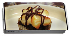Portable Battery Charger featuring the photograph smore Miniature Cupcake N Coffee by Mr Photojimsf