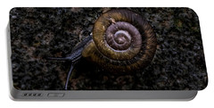 Portable Battery Charger featuring the photograph Snail by Jay Stockhaus