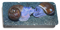 Snail Kisses Portable Battery Charger by Susan Duda