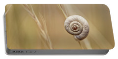 Snail On Autum Grass Blade Portable Battery Charger