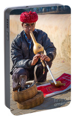 Snake Charmer Portable Battery Charger by Inge Johnsson