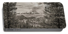 Snake River Overlook Grand Teton Monochromatic Portable Battery Charger