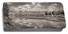 Snake River Reflection Grand Teton Monochromatic Portable Battery Charger