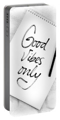 Good Vibes Only Portable Battery Charger