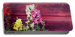 Snapdragons And Red Door Portable Battery Charger