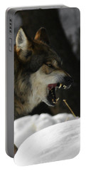 Snarling Wolf Portable Battery Charger