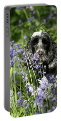 Sniffing Bluebells Portable Battery Charger