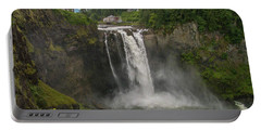 Portable Battery Charger featuring the photograph Snoqualmie Falls From Above by Allen Sheffield