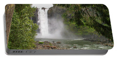 Portable Battery Charger featuring the photograph Snoqualmie Falls From Below by Allen Sheffield
