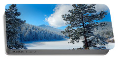 Snow At Beaver Brook Portable Battery Charger