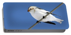 Snow Bunting Portable Battery Charger by Brook Burling