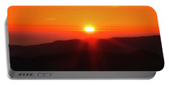 Portable Battery Charger featuring the photograph Snow Camp View 2 by Leland D Howard