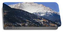 Snow Capped Pikes Peak In Winter Portable Battery Charger
