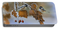 Snow Chickadees Portable Battery Charger