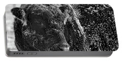 Snow Covered Ice Bull Portable Battery Charger