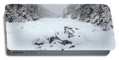 Snow Covered Lake Portable Battery Charger