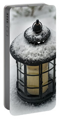 Snow Covered Lamp Portable Battery Charger