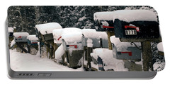 Snow Covered Mailboxes Portable Battery Charger