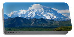 Snow-covered Mount Mckinley, Blue Sky Portable Battery Charger