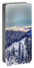 Snow Covered Mountains Portable Battery Charger