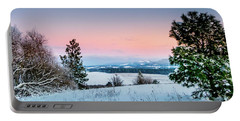 Snow Covered Valley Portable Battery Charger