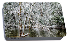 Portable Battery Charger featuring the photograph Snow Cranberry River by Thomas R Fletcher