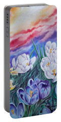 Snow Crocus Portable Battery Charger