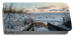 Snow Day At The Beach Portable Battery Charger