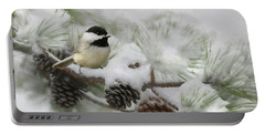 Portable Battery Charger featuring the photograph Snow Day by Lori Deiter