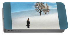 Snow Day Portable Battery Charger by Thomas Blood