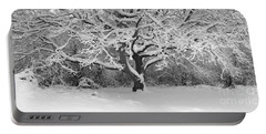 Snow Dusted Tree Portable Battery Charger