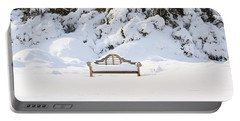 Snow Dwarfed Bench Portable Battery Charger