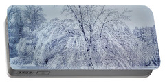 Snow Encrusted Tree Portable Battery Charger