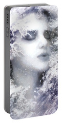 Snow Fairy  Portable Battery Charger by Gun Legler