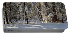 Snow Falling Off Cedars Portable Battery Charger