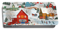 Snow Family  Portable Battery Charger by Wilfrido Limvalencia
