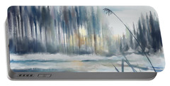 Portable Battery Charger featuring the digital art Snow From Yesterday by Ivana Westin