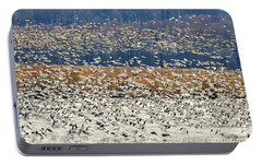 Portable Battery Charger featuring the photograph Snow Geese At Willow Point by Lois Bryan