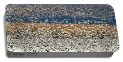Snow Geese At Willow Point Portable Battery Charger