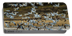 Snow Geese Flock In Flight Portable Battery Charger