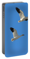 Snow Geese Moon Portable Battery Charger