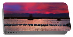 Snow Geese Sunset Portable Battery Charger