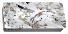 Snow Goose Lift-off Portable Battery Charger