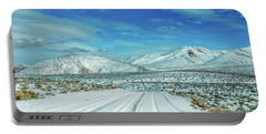Snow In Death Valley Portable Battery Charger