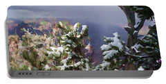 Portable Battery Charger featuring the photograph Snow In The Canyon by Roberta Byram
